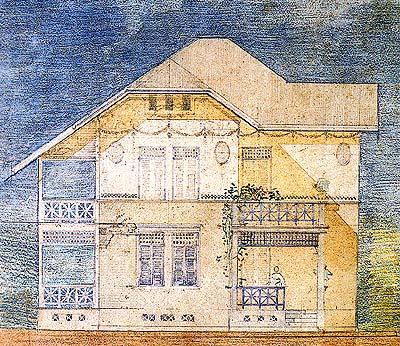 บ้านของครอบครัว ตามานโญ กรุงเทพฯ (พ.ศ.๒๔๖๓-๒๔๖๔) (ภาพ : เอเลนา ตามานโญ)