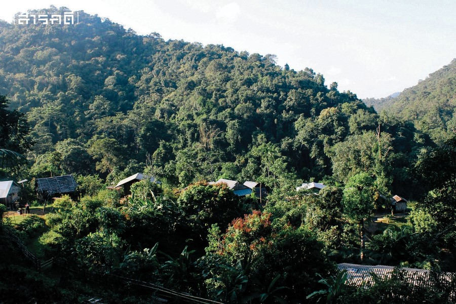 บ้านคิดถึง หมู่บ้านชาวปกากะญอริมแม่น้ำสาละวินฝั่งไทย
