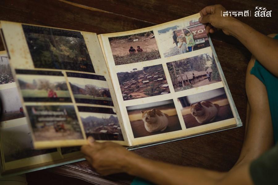 ภาพฟิล์มในอัลบัมเล่มใหญ่ที่ต้องตาถ่ายระหว่างเดินทางท่องเที่ยว