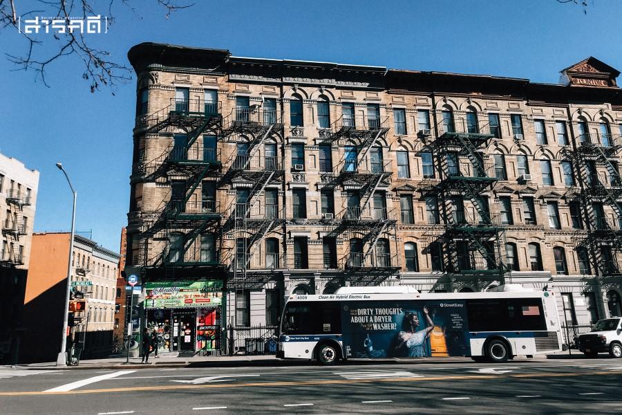 ย่านเหนือของเกาะแมนฮัตตัน นครนิวยอร์ก ที่อยู่ของชุมชนคนอเมริกันเชื้อสายสเปน (ภาพ : มรกตวงศ์ ภูมิพลับ)